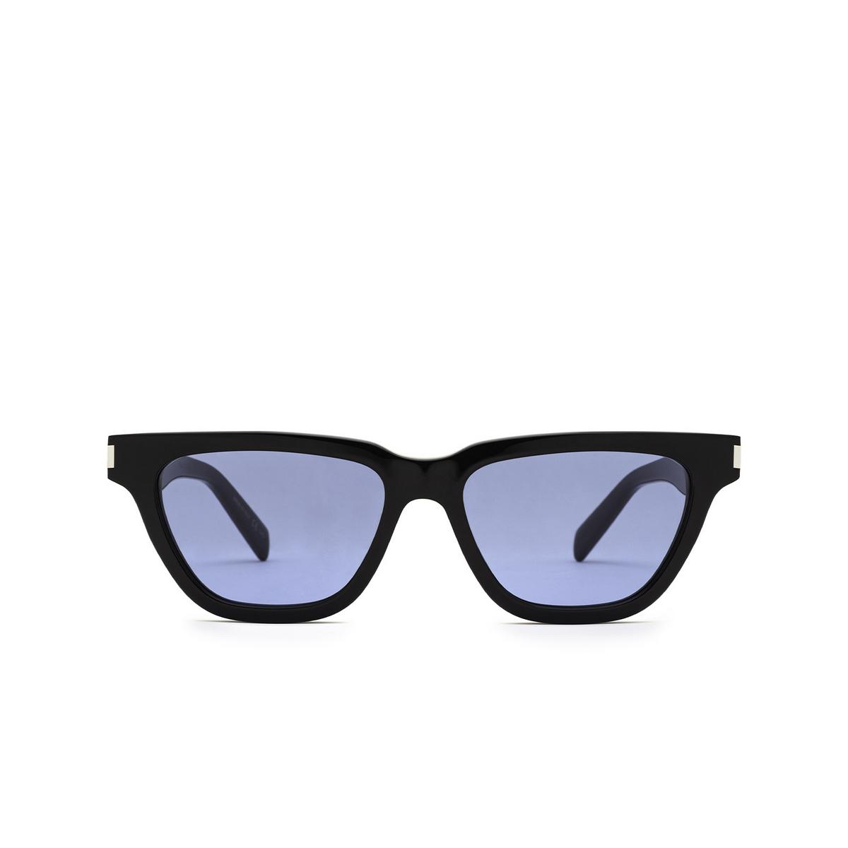 Saint Laurent® Cat-eye Sunglasses: Sulpice SL 462 color Black 010 - front view.