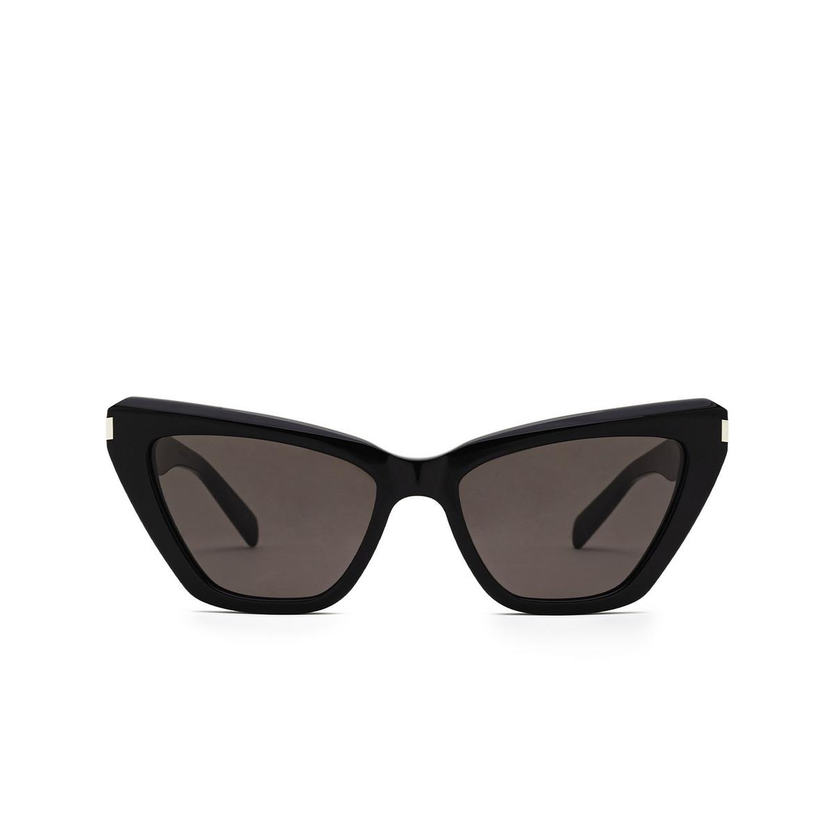 Saint Laurent® Cat-eye Sunglasses: SL 466 color Black 001 - front view.