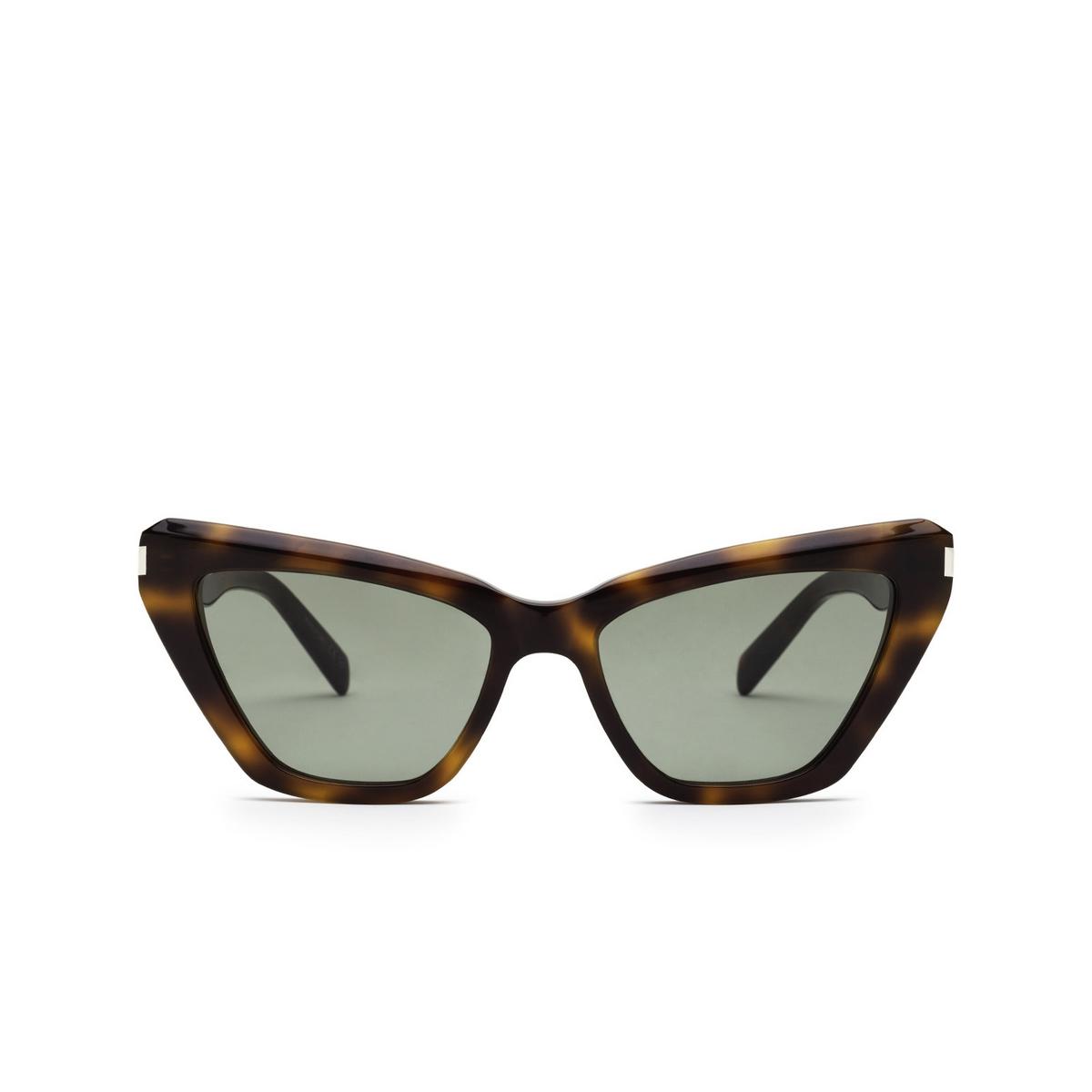 Saint Laurent® Cat-eye Sunglasses: SL 466 color Havana 002 - front view.