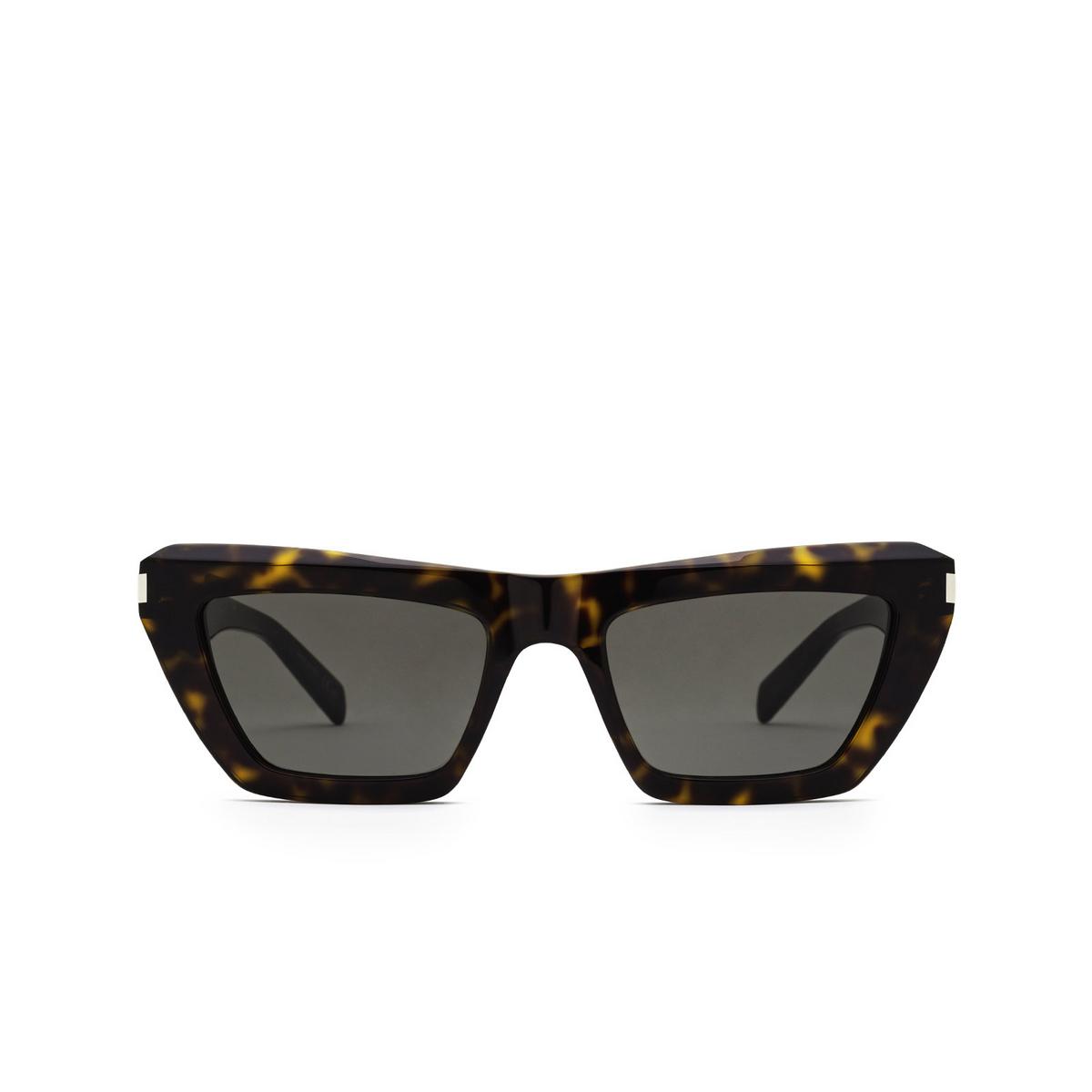 Saint Laurent® Cat-eye Sunglasses: SL 467 color Dark Havana 002 - front view.