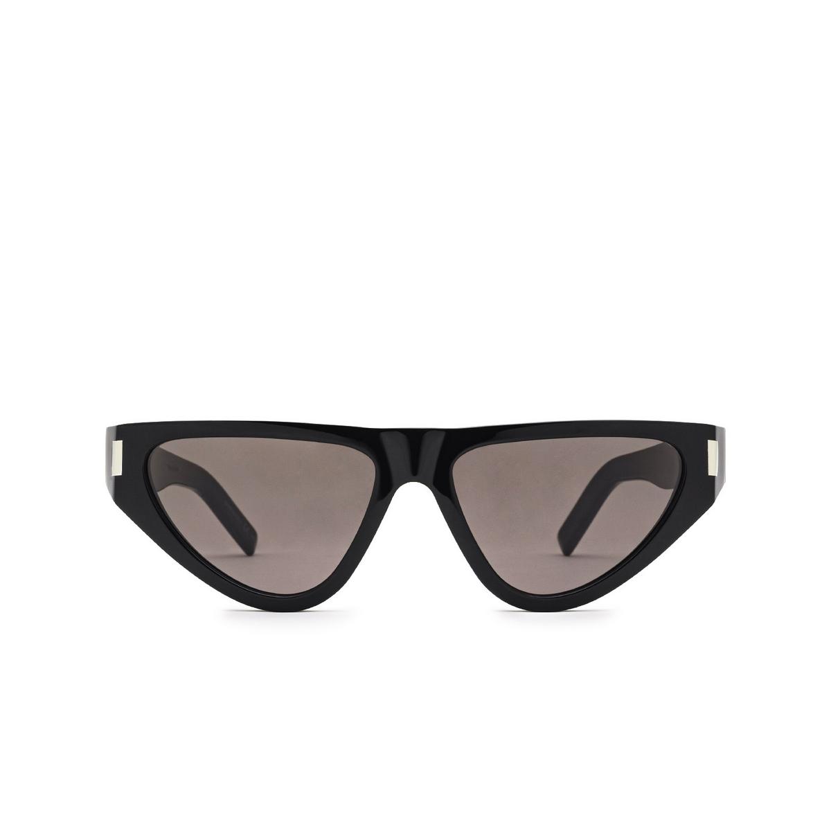 Saint Laurent® Irregular Sunglasses: SL 468 color Black 001 - front view.