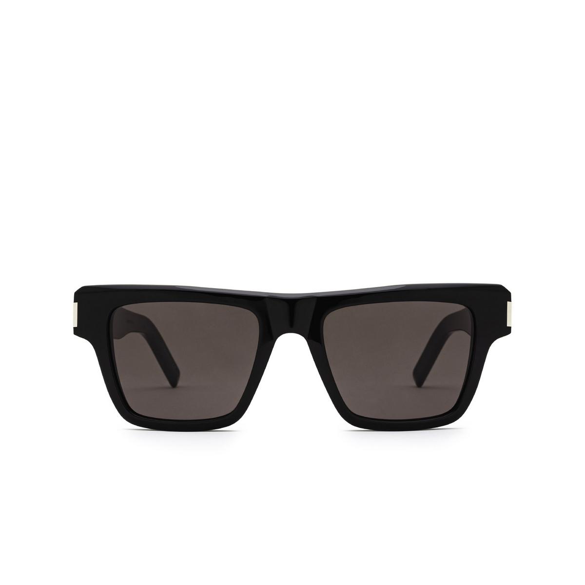 Saint Laurent® Rectangle Sunglasses: SL 469 color Black 001 - front view.