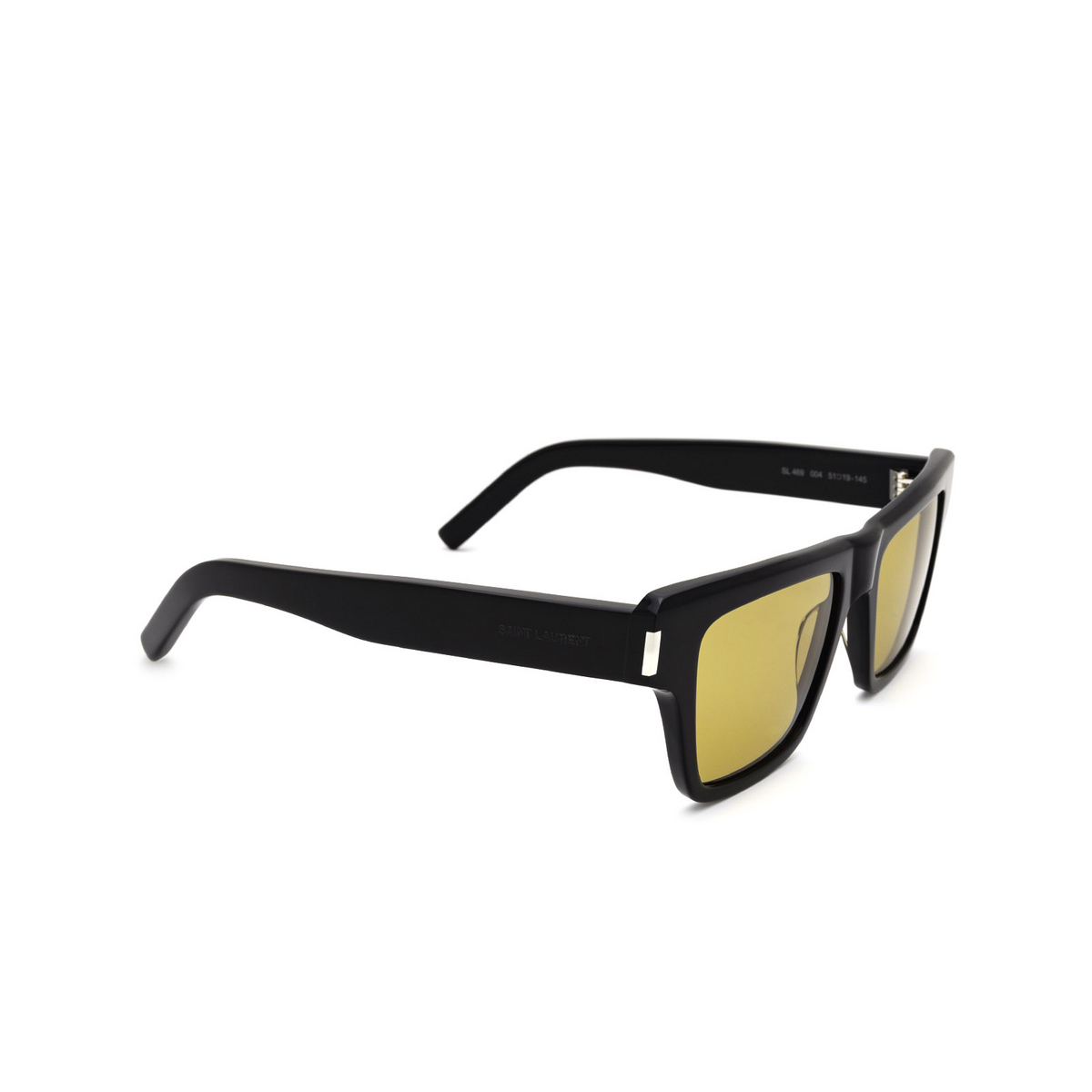 Saint Laurent® Rectangle Sunglasses: SL 469 color Black 004 - three-quarters view.