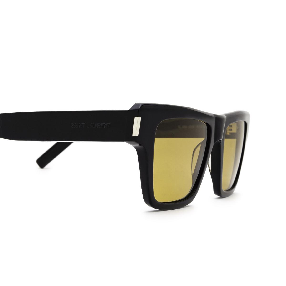 Saint Laurent® Rectangle Sunglasses: SL 469 color Black 004 - 3/3.