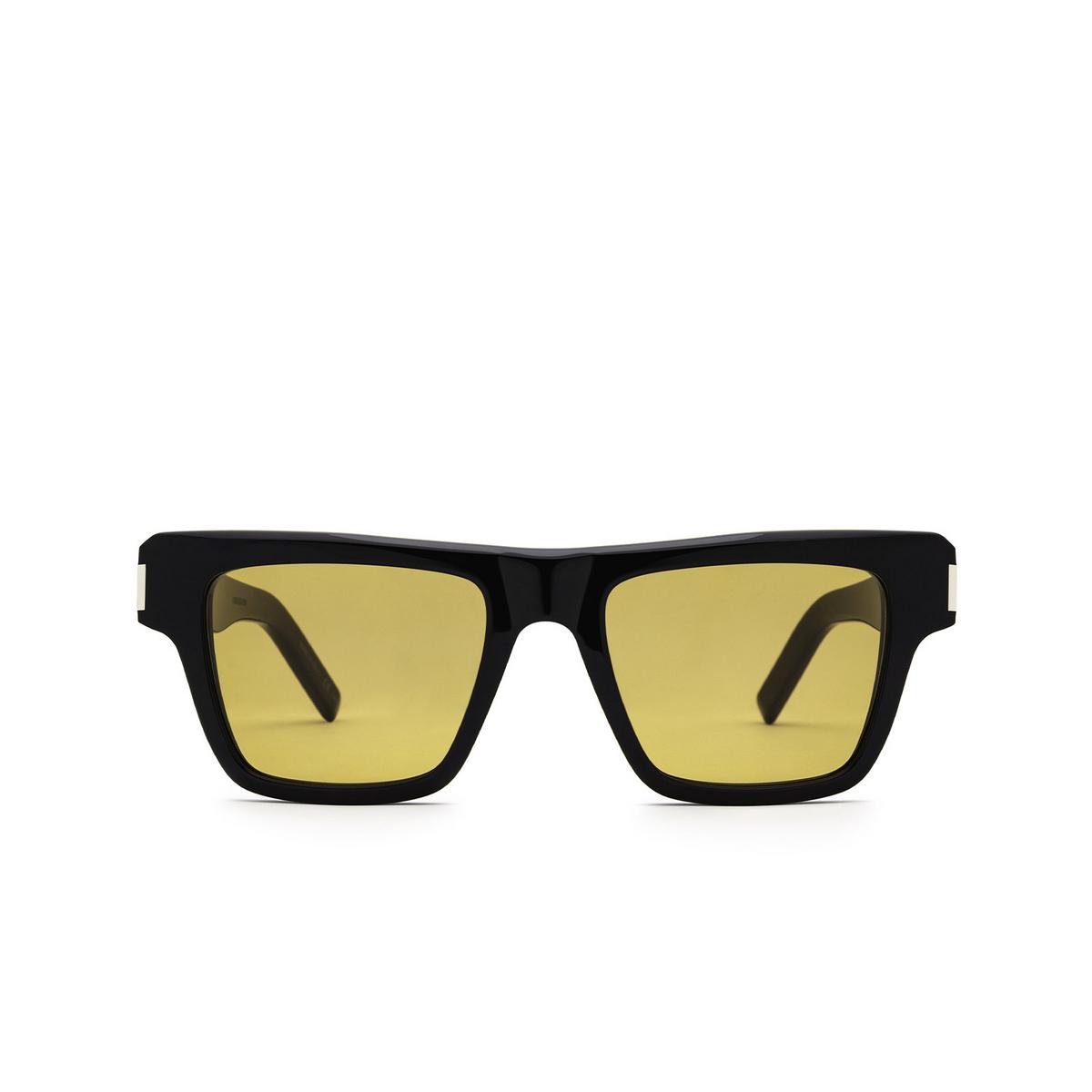 Saint Laurent® Rectangle Sunglasses: SL 469 color Black 004 - front view.