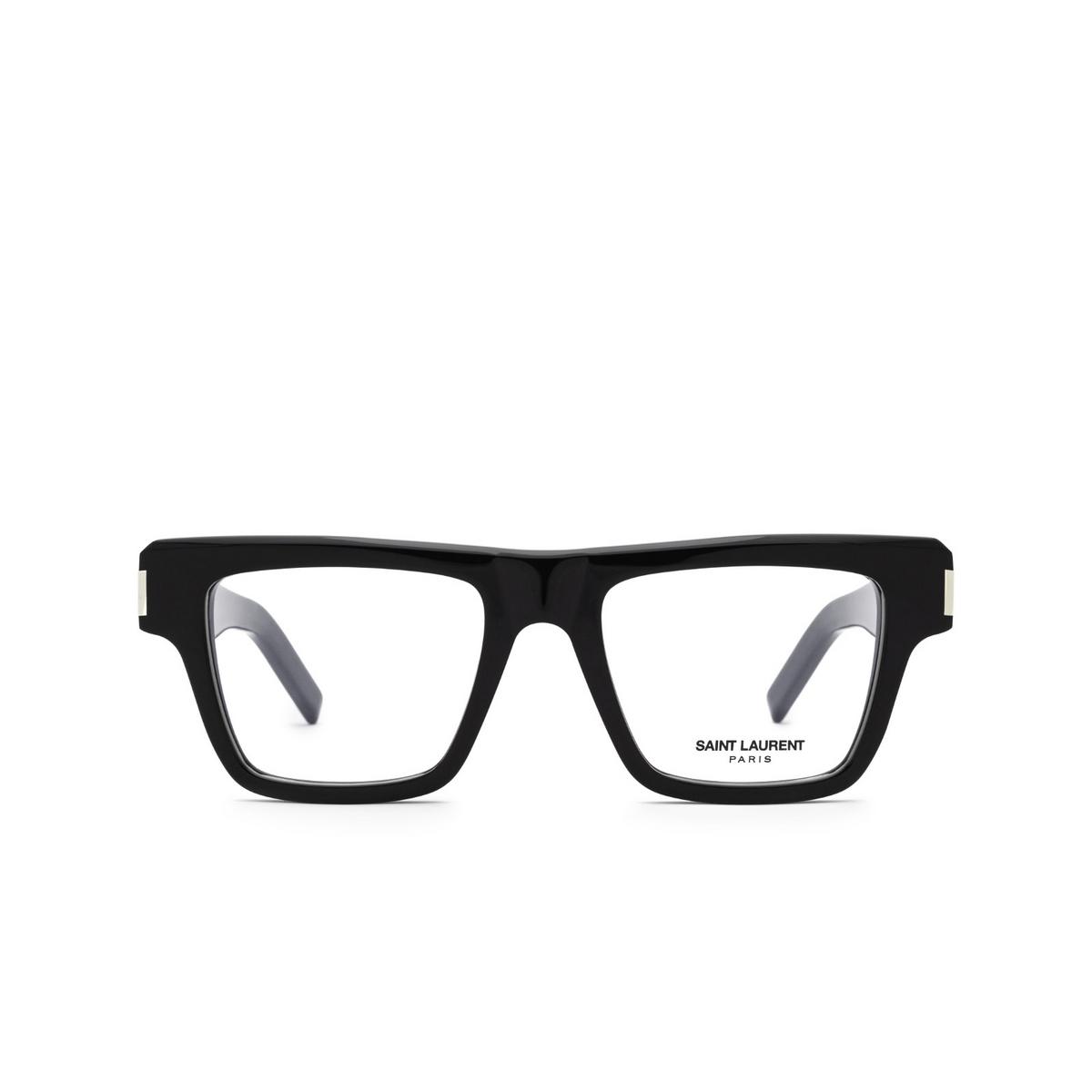 Saint Laurent® Rectangle Eyeglasses: SL 469 OPT color Black 001 - front view.