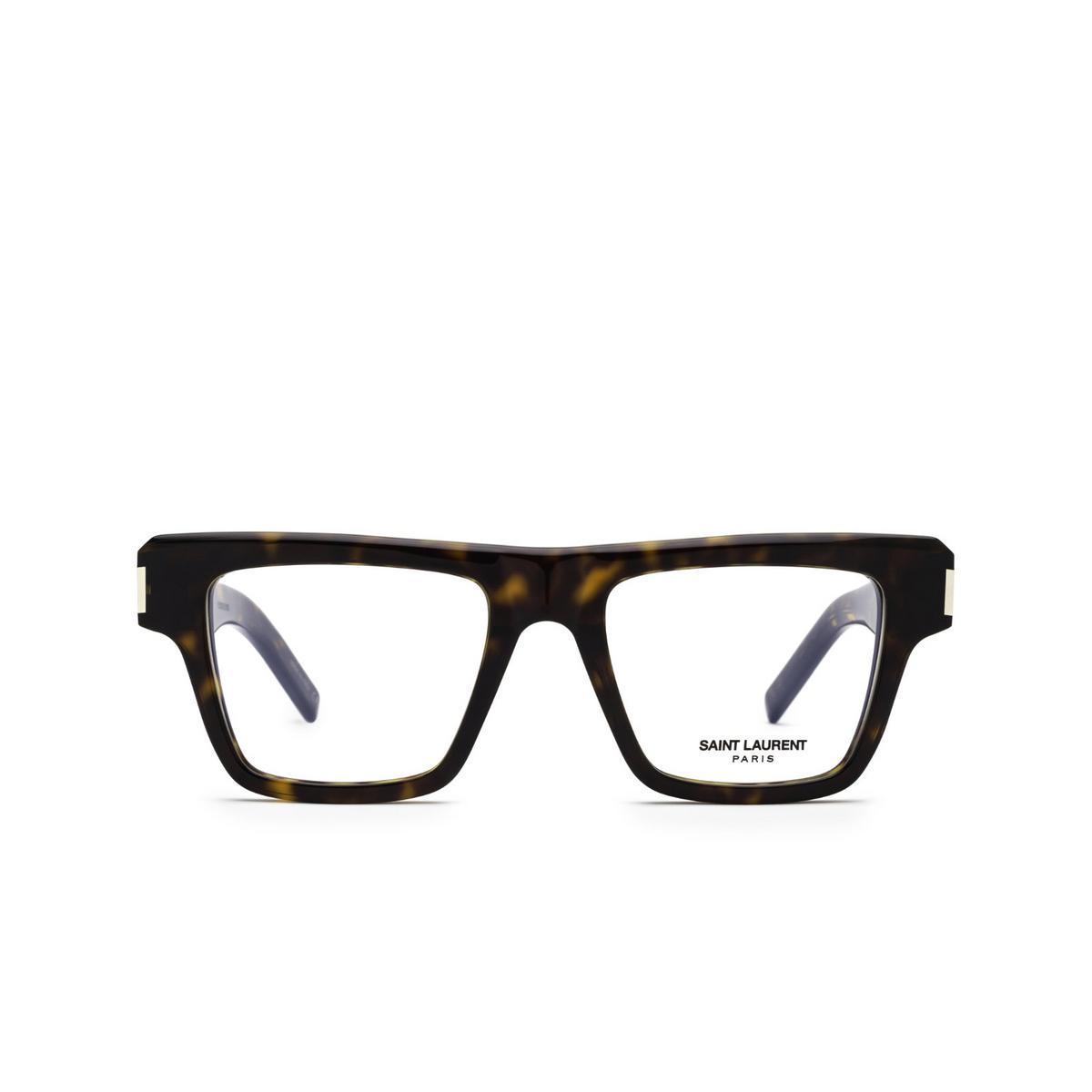 Saint Laurent® Rectangle Eyeglasses: SL 469 OPT color Havana 002 - front view.