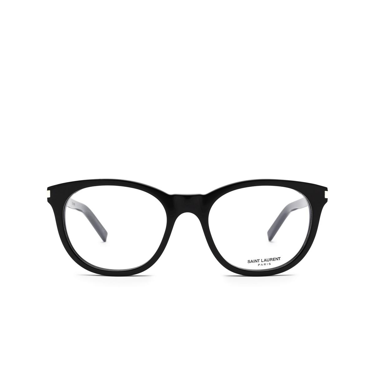 Saint Laurent® Square Eyeglasses: SL 471 color Black 001 - front view.