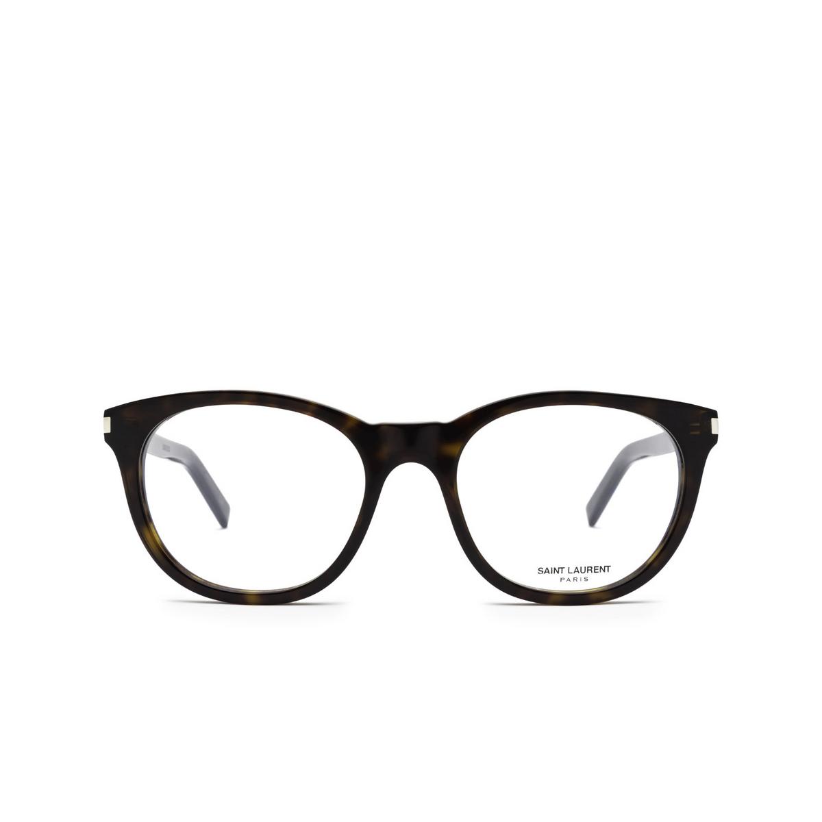 Saint Laurent® Square Eyeglasses: SL 471 color Havana 002 - front view.