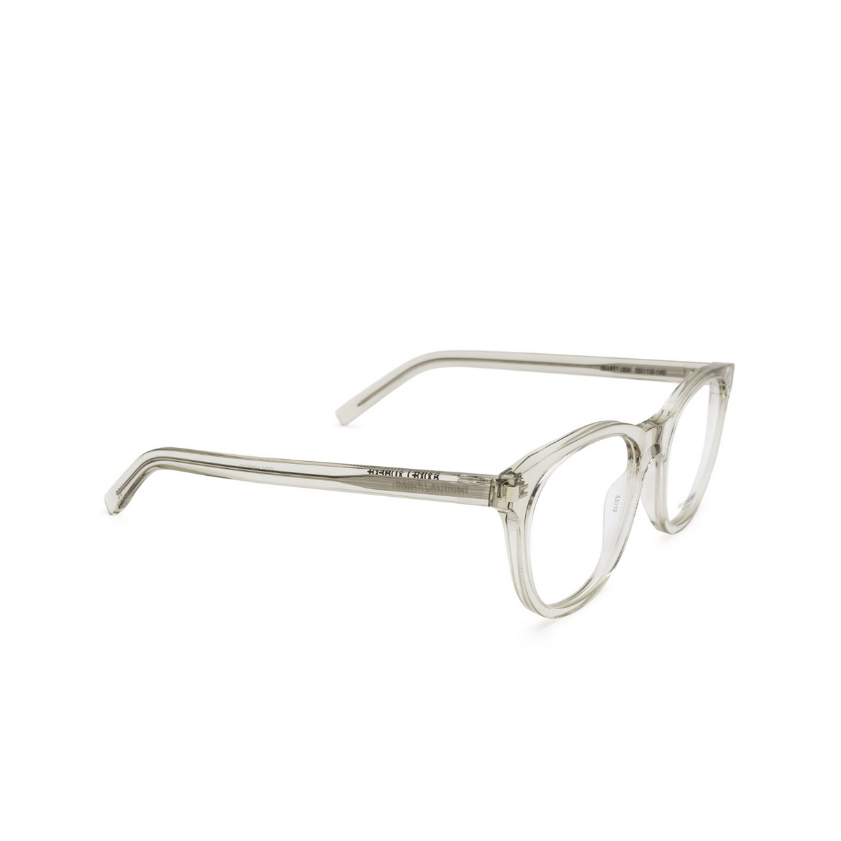 Saint Laurent® Square Eyeglasses: SL 471 color Beige 004 - three-quarters view.