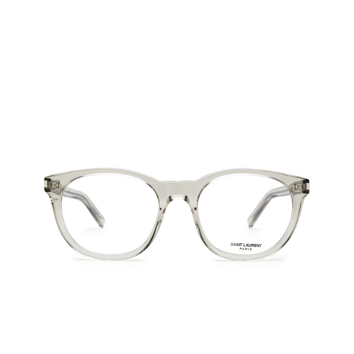 Saint Laurent® Square Eyeglasses: SL 471 color Beige 004 - front view.