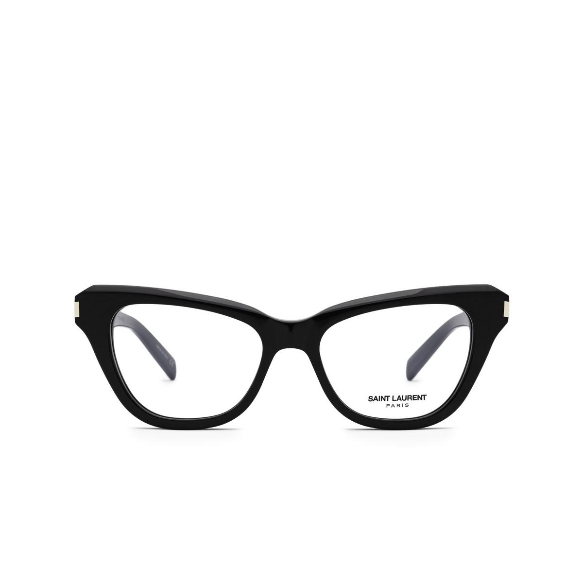 Saint Laurent® Cat-eye Eyeglasses: SL 472 color Black 001 - front view.