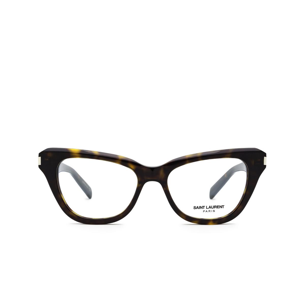 Saint Laurent® Cat-eye Eyeglasses: SL 472 color Dark Havana 002 - front view.