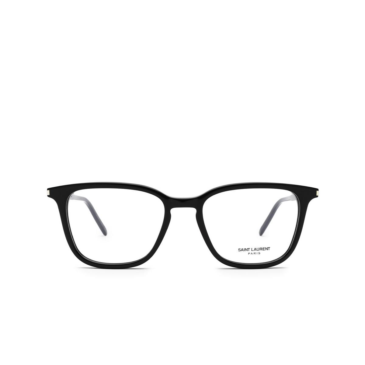 Saint Laurent® Square Eyeglasses: SL 479 color Black 001 - front view.