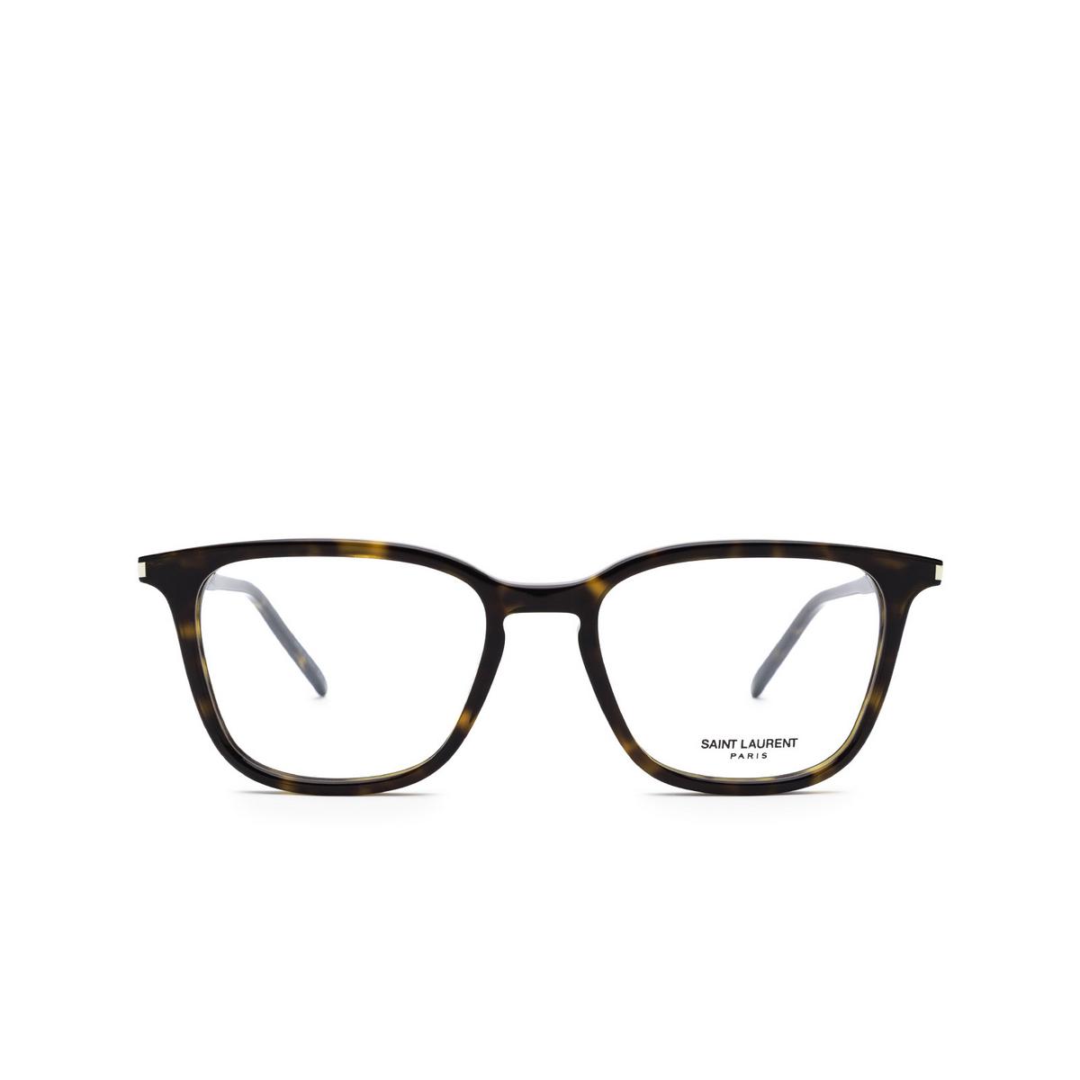 Saint Laurent® Square Eyeglasses: SL 479 color Dark Havana 002 - front view.