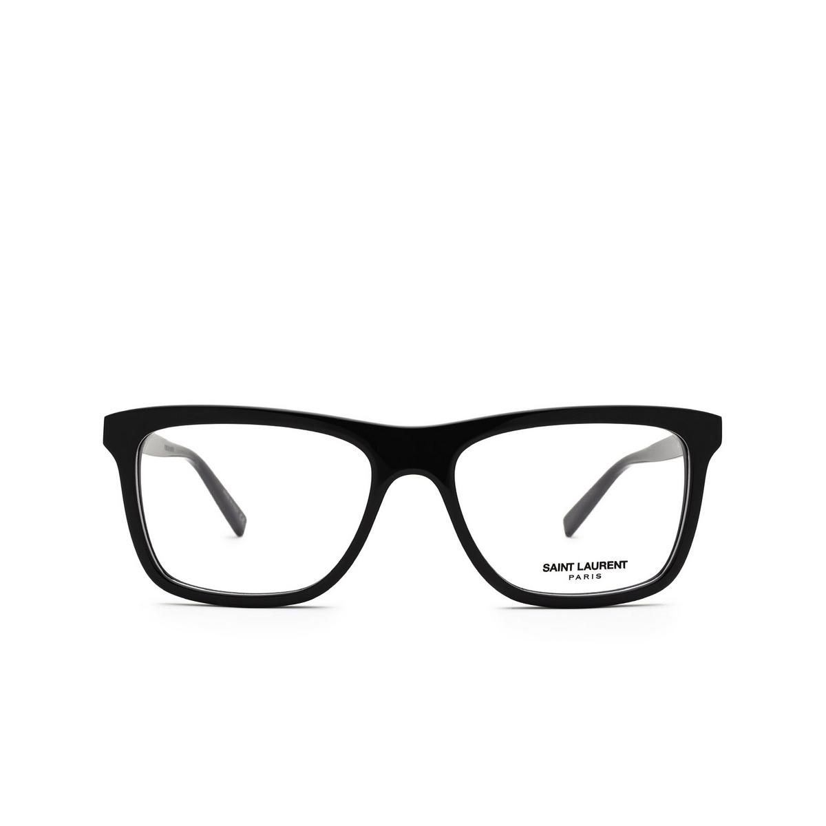 Saint Laurent® Rectangle Eyeglasses: SL 481 color Black 001 - front view.