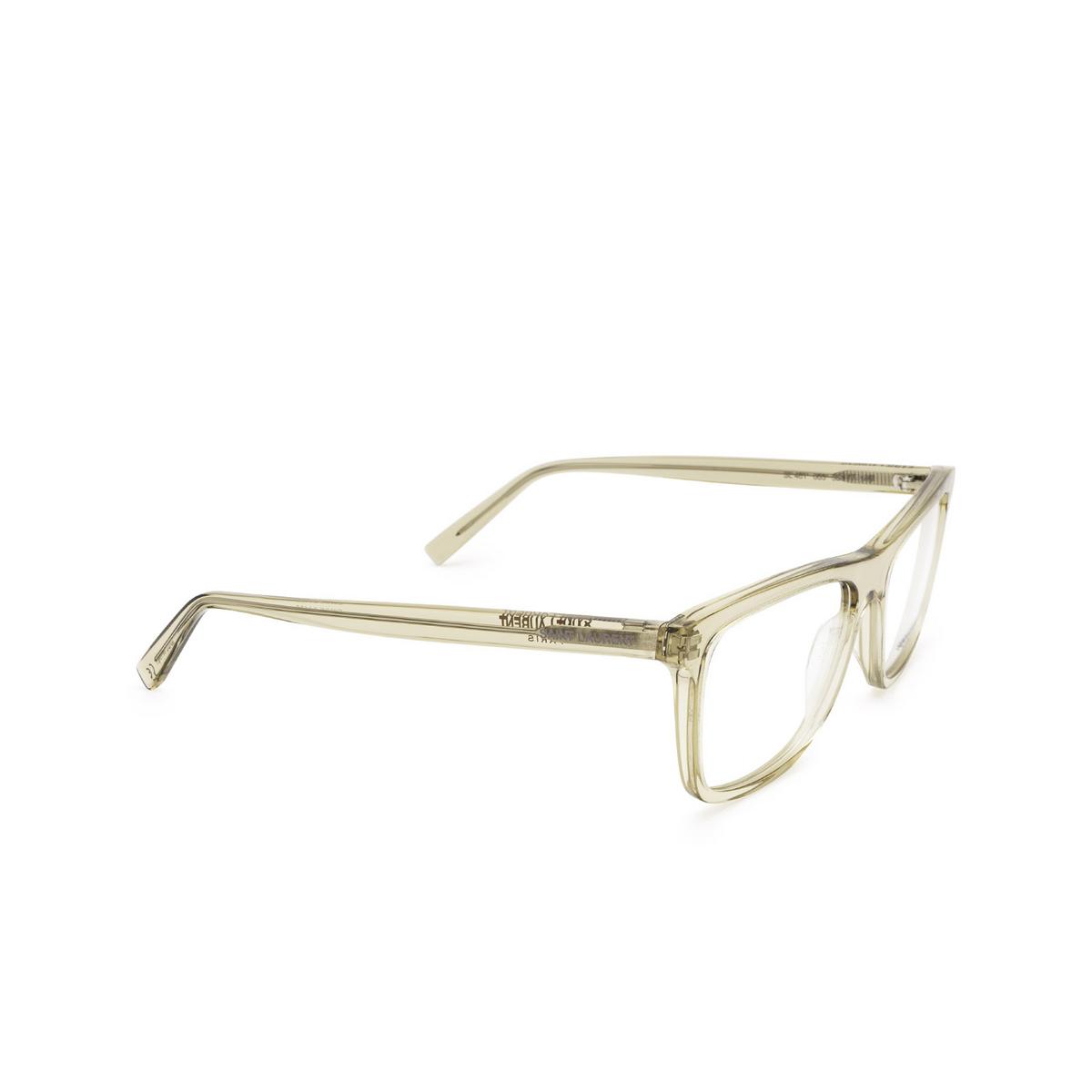 Saint Laurent® Rectangle Eyeglasses: SL 481 color Yellow 003 - three-quarters view.