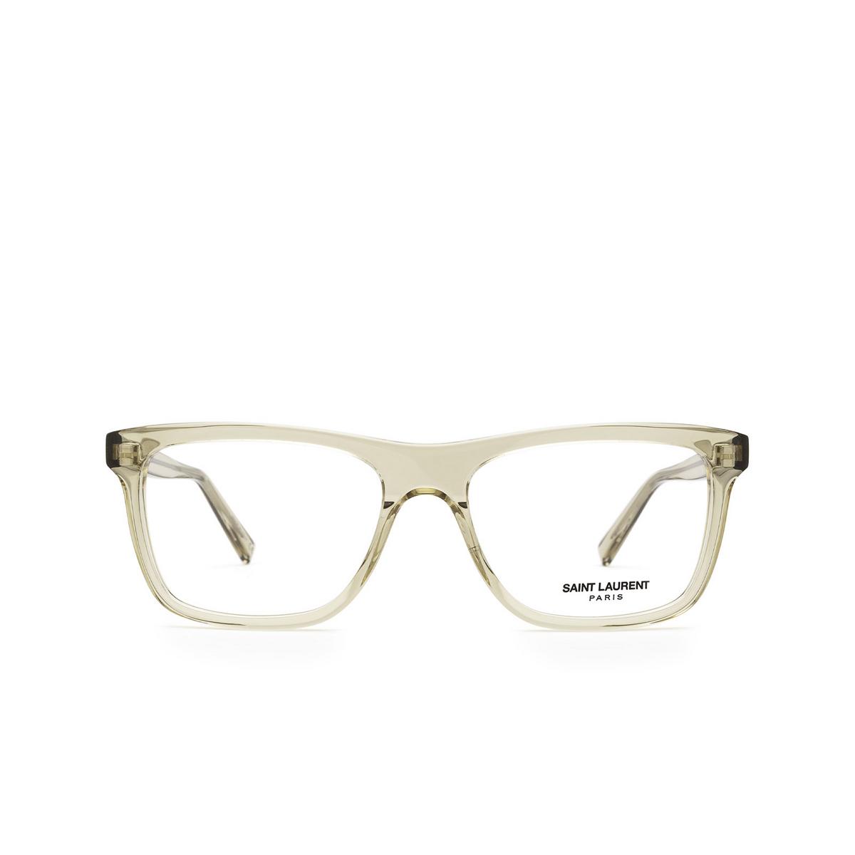Saint Laurent® Rectangle Eyeglasses: SL 481 color Yellow 003 - front view.