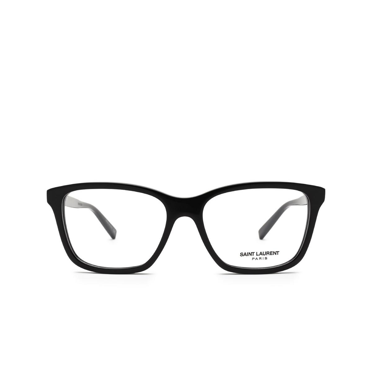 Saint Laurent® Rectangle Eyeglasses: SL 482 color Black 001 - front view.