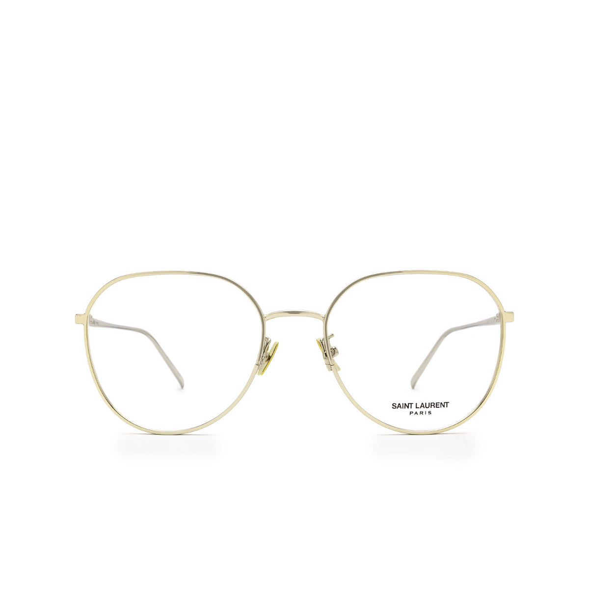 Saint Laurent® Round Eyeglasses: SL 484 color Gold 003 - front view.