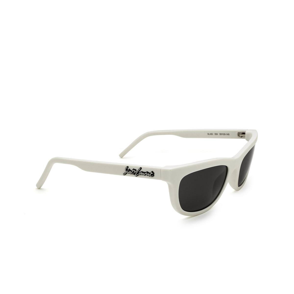 Saint Laurent® Cat-eye Sunglasses: SL 493 color Ivory 004 - three-quarters view.