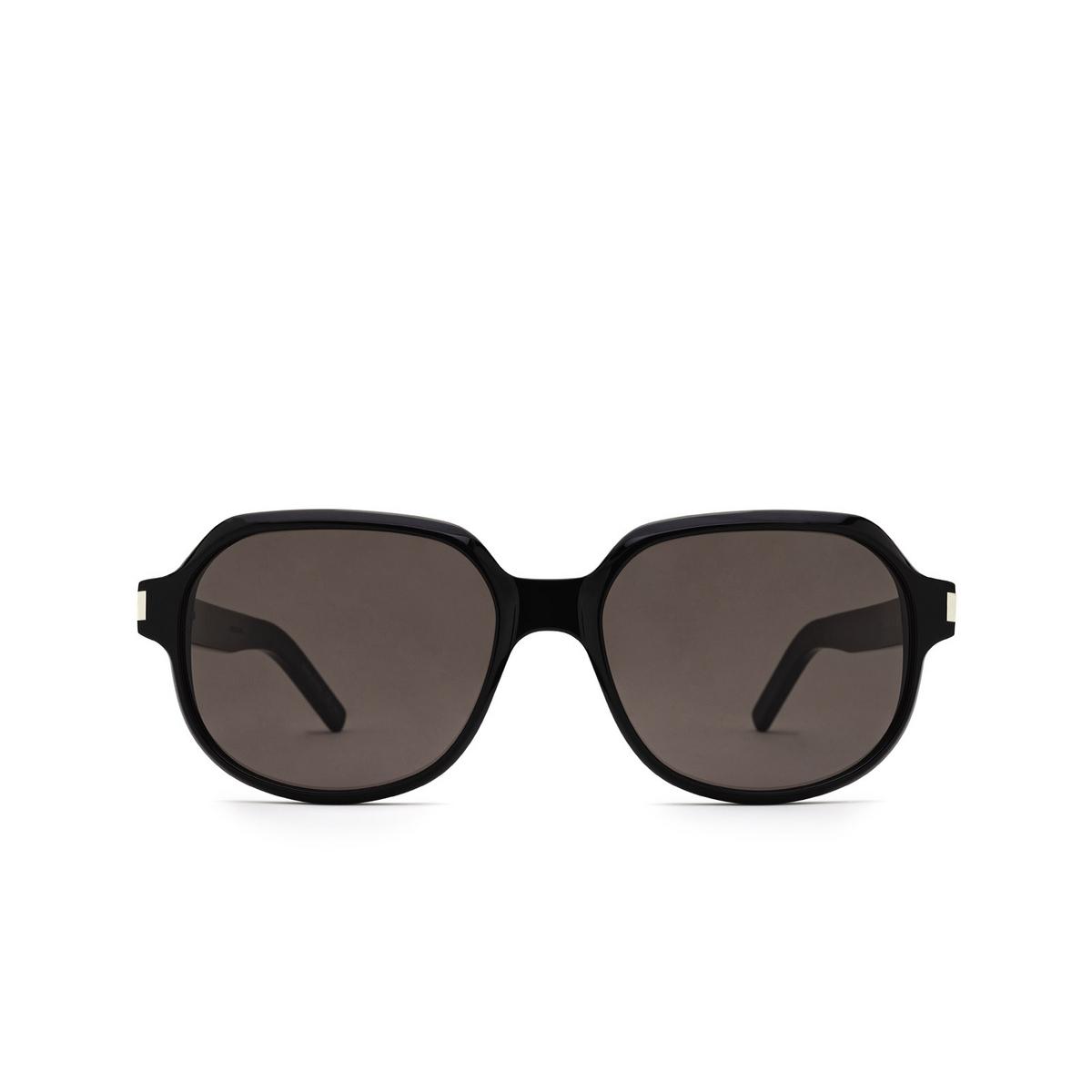 Saint Laurent® Square Sunglasses: SL 496 color Black 001 - front view.