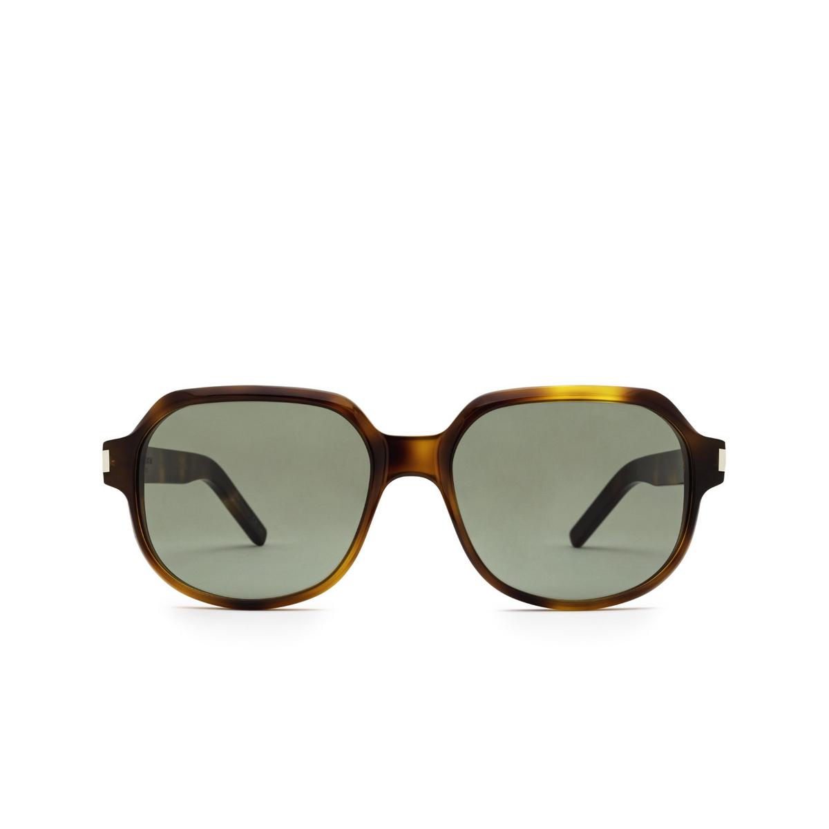 Saint Laurent® Square Sunglasses: SL 496 color Havana 002 - front view.