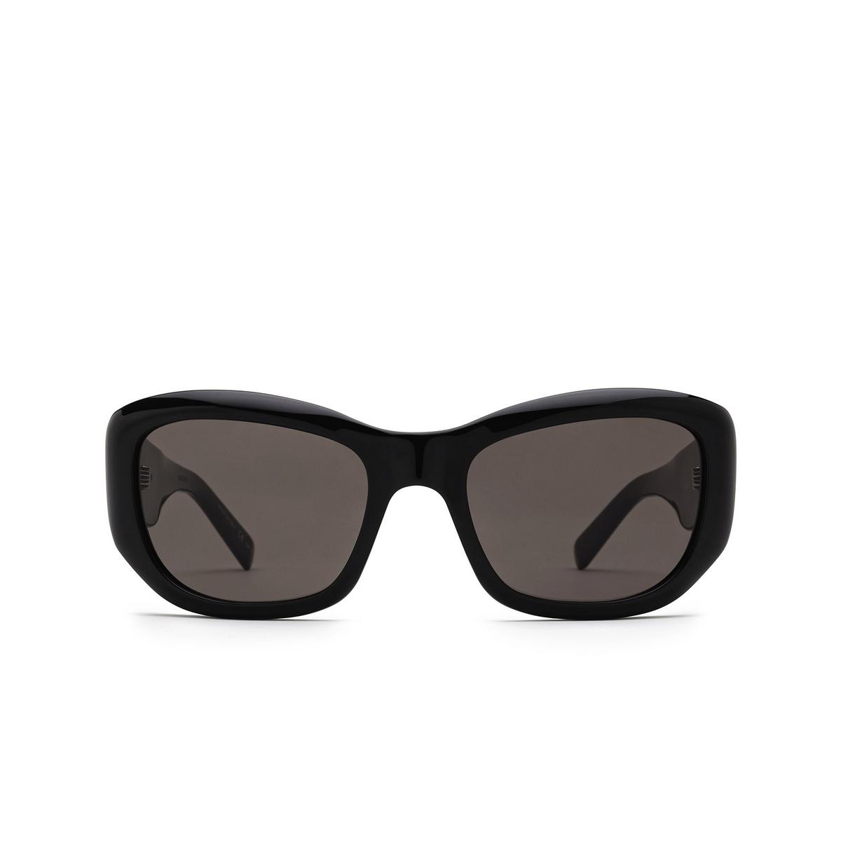 Saint Laurent® Rectangle Sunglasses: SL 498 color Black 001 - front view.