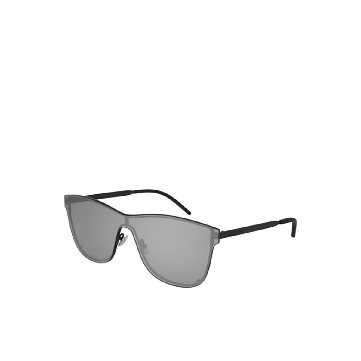 Saint Laurent® Mask Sunglasses: SL 51 OVER MASK color Black 003 - three-quarters view.
