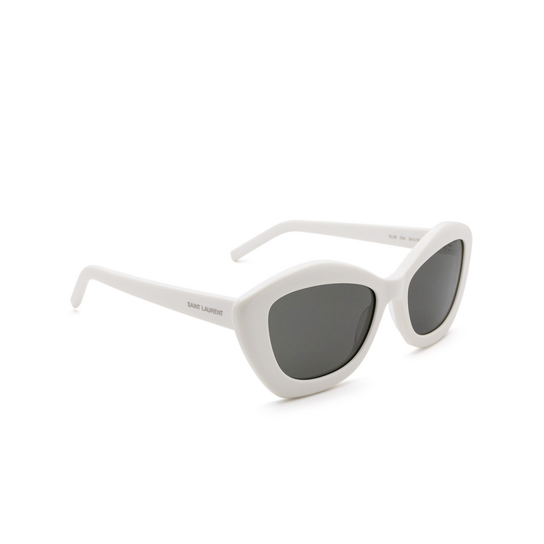 Saint Laurent® Cat-eye Sunglasses: SL 68 color Ivory 004.
