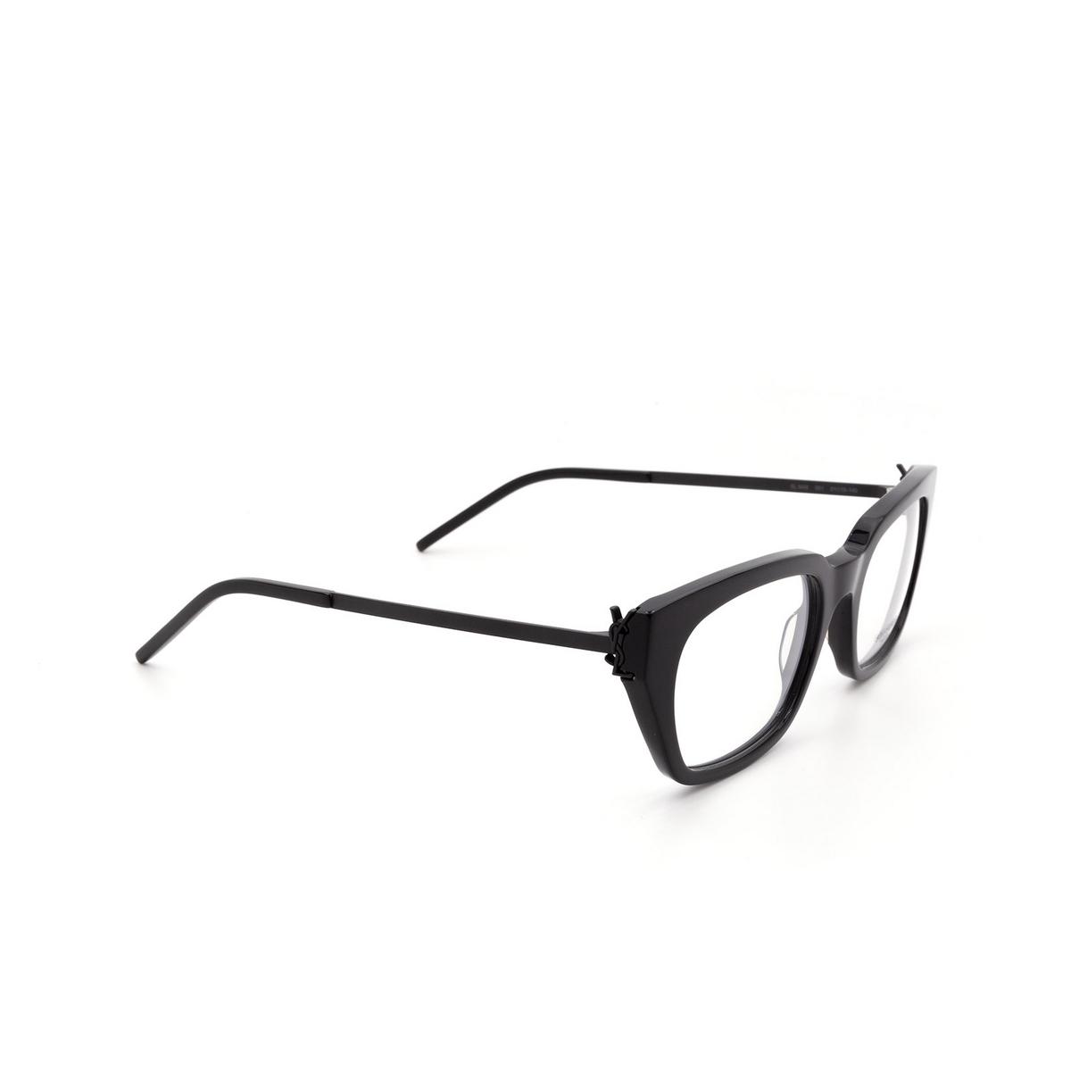 Saint Laurent® Cat-eye Eyeglasses: SL M48 color Black 001.