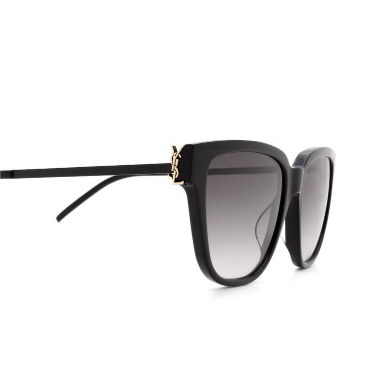 Saint Laurent® Square Sunglasses: SL M48S color Black 002.