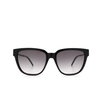 Saint Laurent® Square Sunglasses: SL M48S color Black 002.