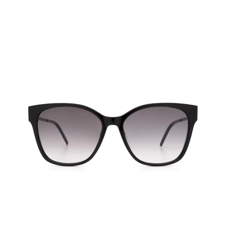 Saint Laurent® Rectangle Sunglasses: SL M48S/K color Black 002.