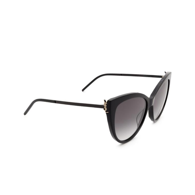 Saint Laurent® Cat-eye Sunglasses: SL M48S_A color Black 002.