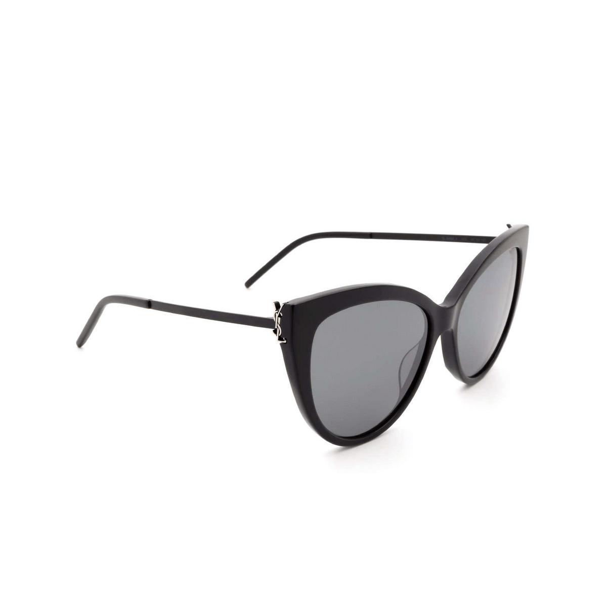 Saint Laurent® Cat-eye Sunglasses: SL M48S_A color Black 003.