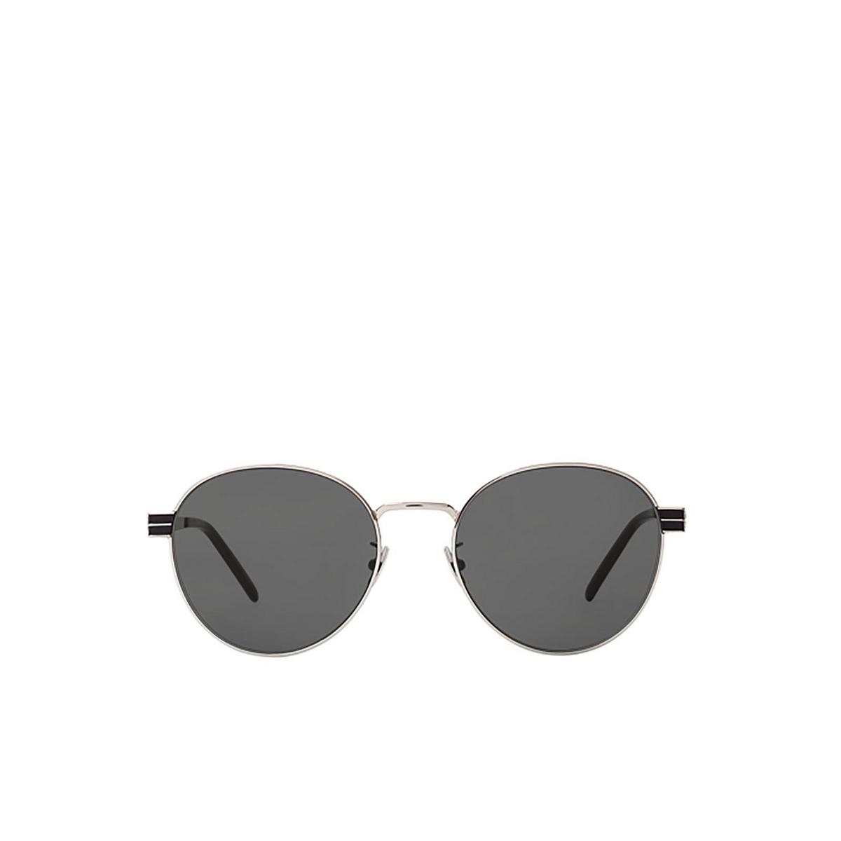 Saint Laurent® Round Sunglasses: SL M65 color Silver 001 - front view.