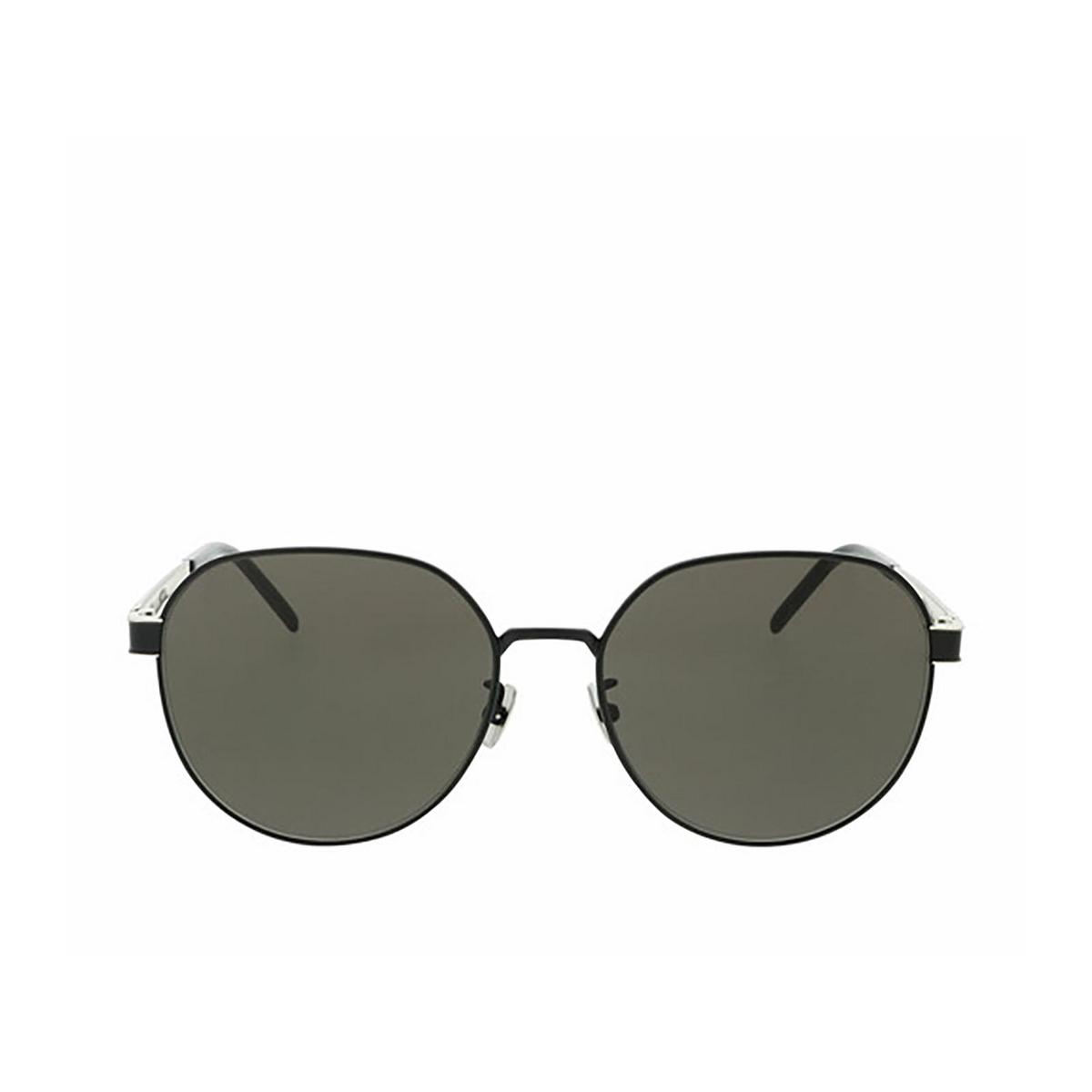 Saint Laurent® Round Sunglasses: SL M66 color Black 002 - front view.