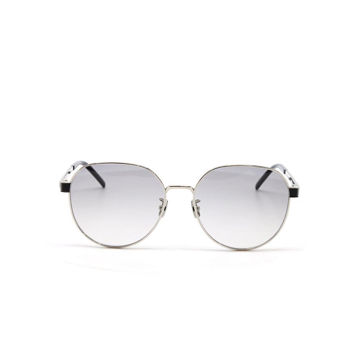 Saint Laurent® Round Sunglasses: SL M66 color Silver 003 - front view.
