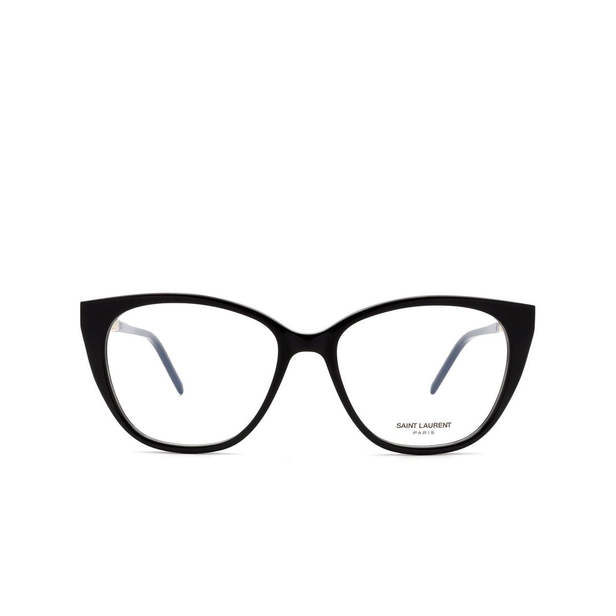 Saint Laurent® Cat-eye Eyeglasses: SL M72 color Black 002.