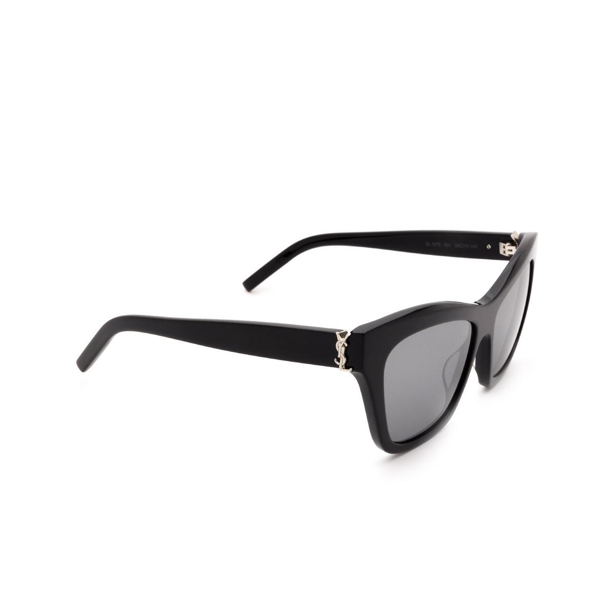 Saint Laurent® Cat-eye Sunglasses: SL M79 color Black 001.