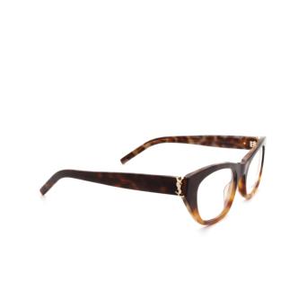 Saint Laurent® Cat-eye Eyeglasses: SL M80 color Havana 003.