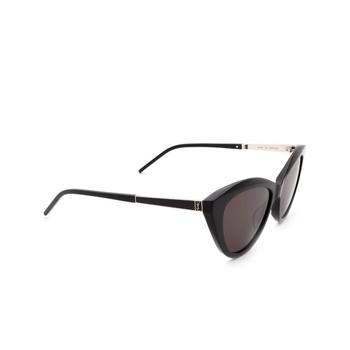 Saint Laurent® Cat-eye Sunglasses: SL M81 color Black 001 - 2/3.