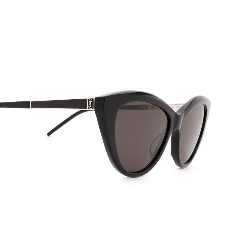Saint Laurent® Cat-eye Sunglasses: SL M81 color Black 001.