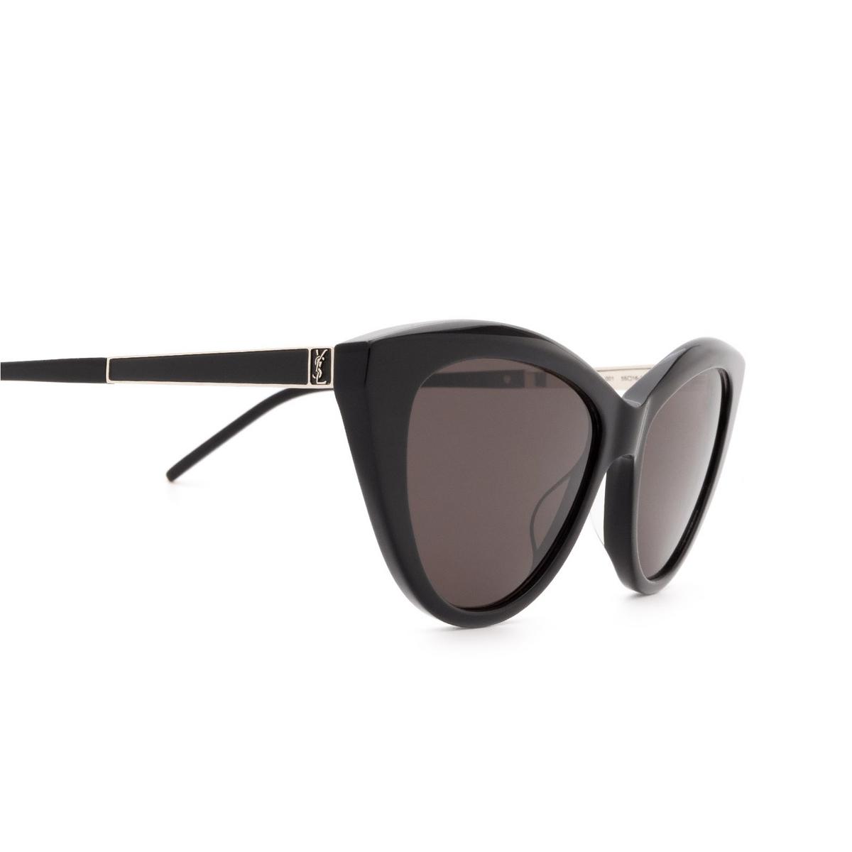 Saint Laurent® Cat-eye Sunglasses: SL M81 color Black 001 - 3/3.