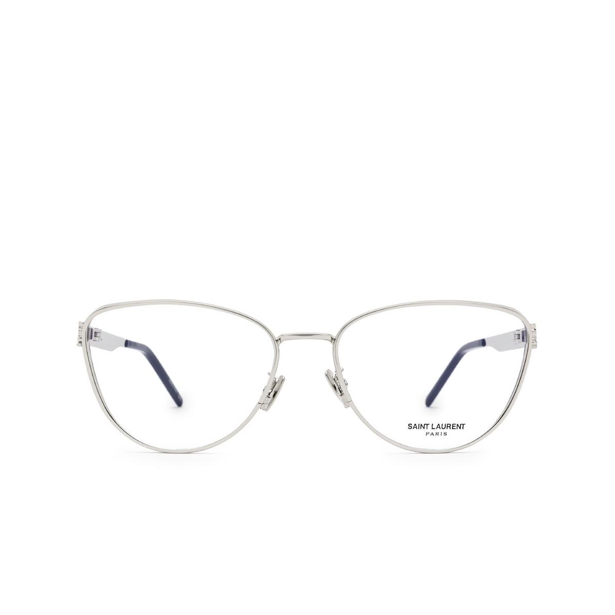 Saint Laurent® Cat-eye Eyeglasses: SL M92 color Silver 001 - front view.