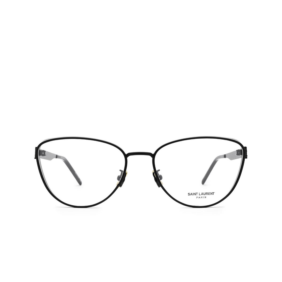 Saint Laurent® Cat-eye Eyeglasses: SL M92 color Black 003 - front view.