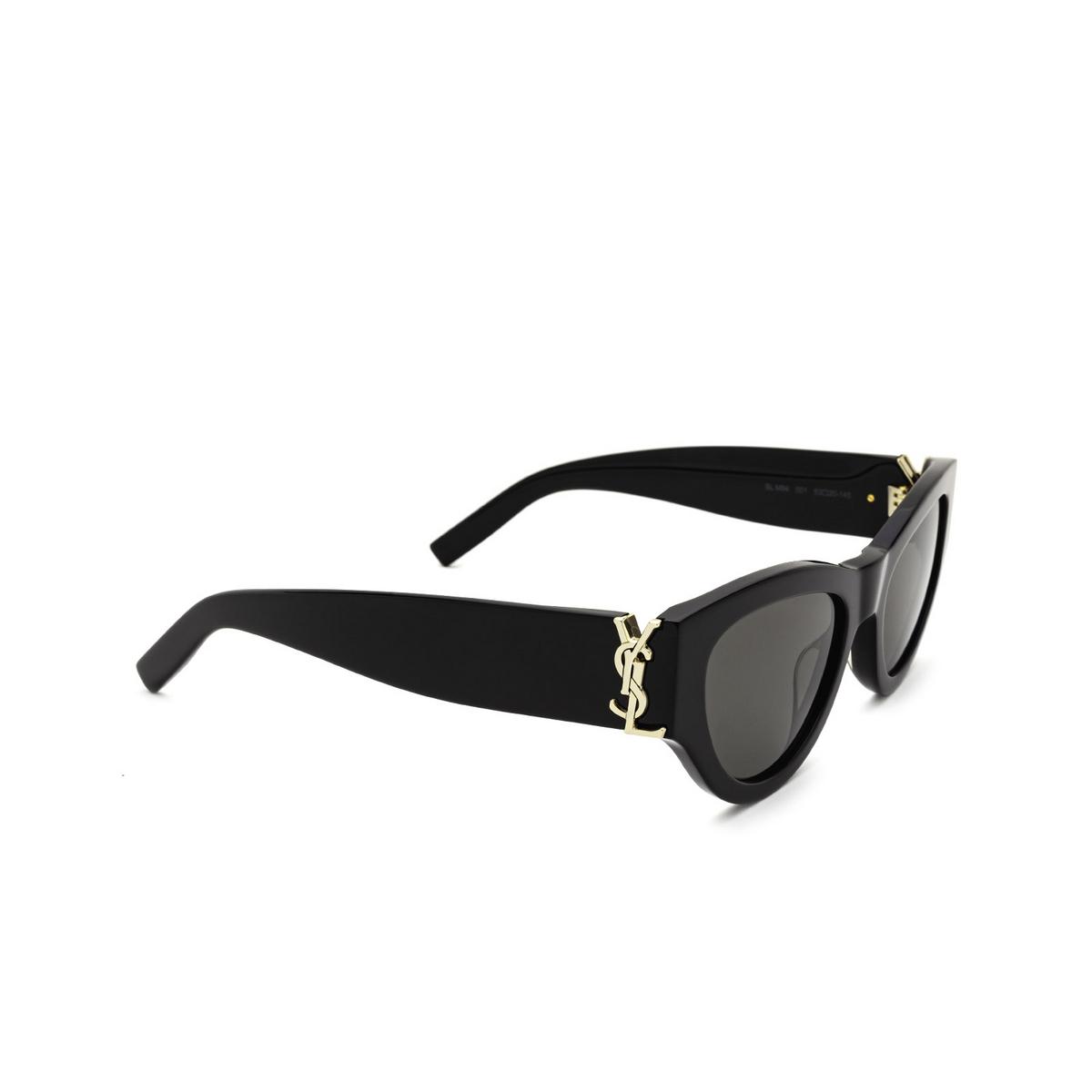 Saint Laurent® Cat-eye Sunglasses: SL M94 color Black 001 - three-quarters view.