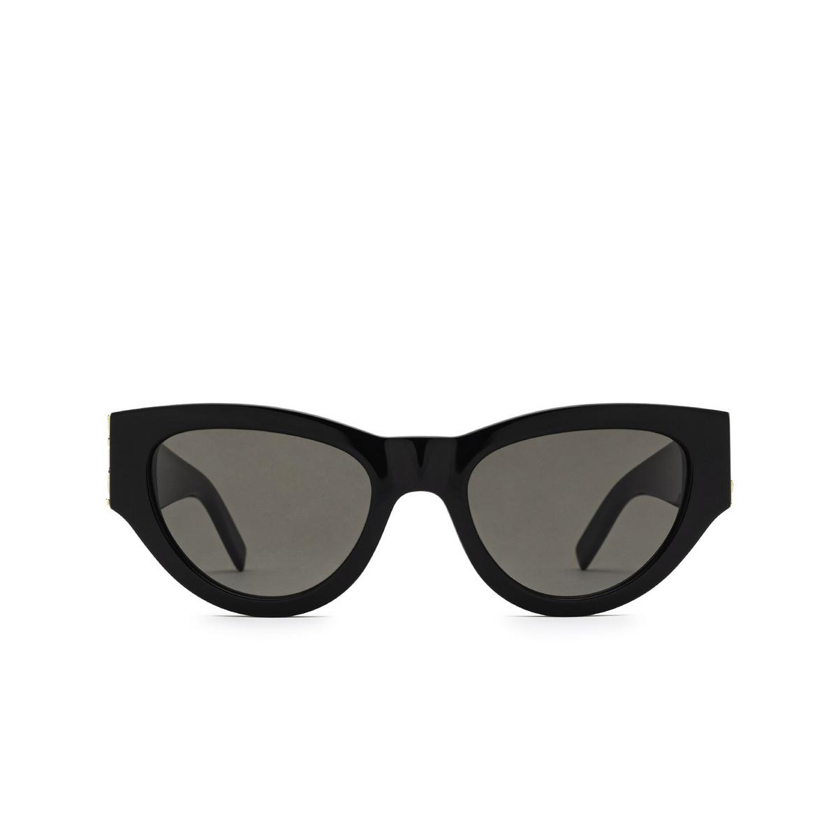 Saint Laurent® Cat-eye Sunglasses: SL M94 color Black 001 - front view.