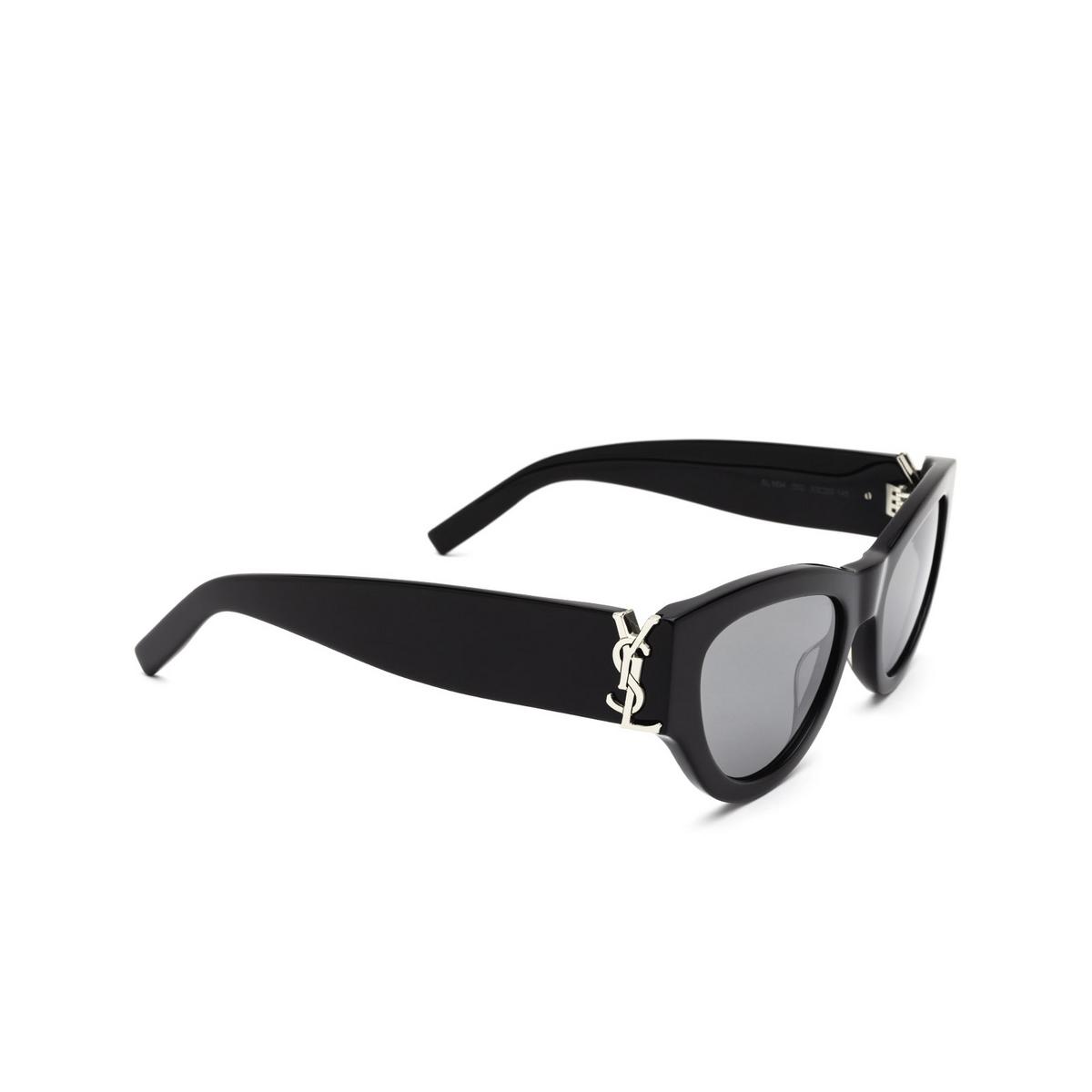 Saint Laurent® Cat-eye Sunglasses: SL M94 color Black 002 - three-quarters view.